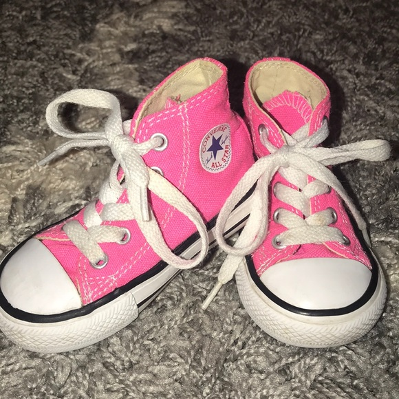 Hot Pink Chucks High Tops Infant